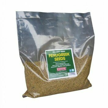 Equimins Straight Herbs Fenugreek Seeds - 1 KG BAG