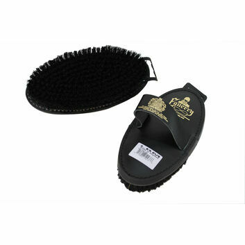 Equerry Body Brush Leather Natural Bristle LBM