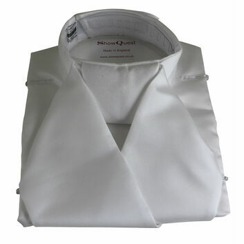 ShowQuest Bib Stock Satin - WHITE