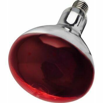 Tusk Intelec ES27 Hard Glass Infra-Red Animal Heat Bulb Ruby - 250w