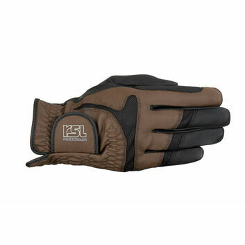 RSL Rotterdam Touch Riding Gloves Black/Brown
