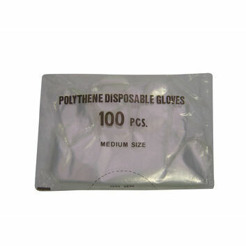 Gloves Disposable Shoulder Polygloves - 100 PACK
