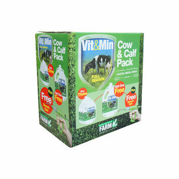 Greencoat Farm Vit&Min Cow Promo Pack - 4 X 2.5 LT PLUS DRENCH GUN