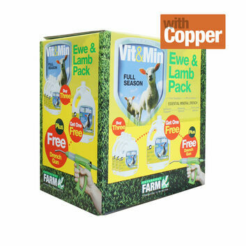 Greencoat Farm Vit&Min Sheep with Copper Promo Pack - 4 X 2.5 LT PLUS DRENCH GUN
