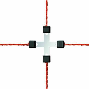 Wire Cross-Connector Litzclip Galvanised - 3MM X 5 PACK
