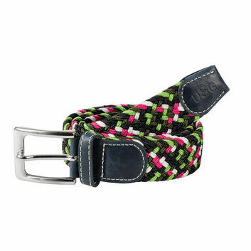 USG Belt Casual Adult Navy/Green/Pink/White x 100cm
