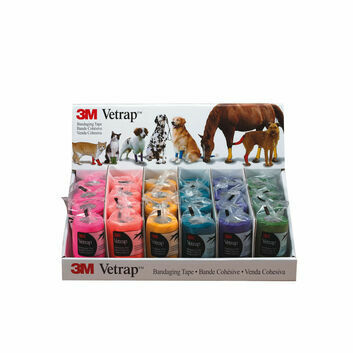 Vetrap 10cm Bandage Display Pack Bright Colours - 24 PACK