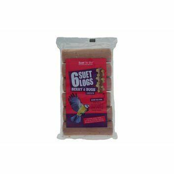 Suet To Go Suet Logs Berry & Bugs - 6 x 90g
