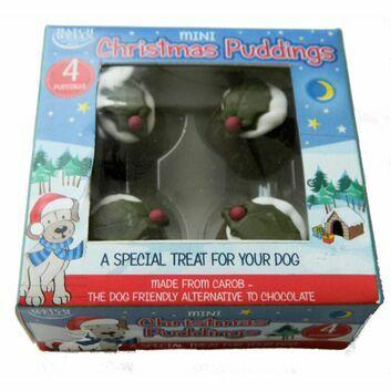 Hatchwells Mini Carob Christmas Pudding - 4 PACK
