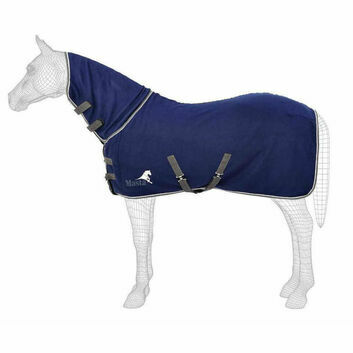 Masta Fleece Rug Avante Fixed Neck Navy