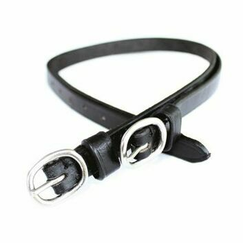 JHL Spur Straps Leather - BLACK