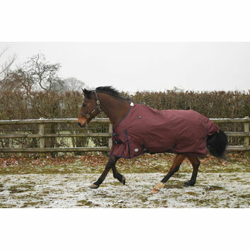 JHL Essential Turnout Rug Lightweight Burgundy/Navy