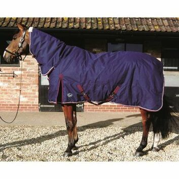 JHL Stable Rug Heavyweight Combo Navy/Burgundy