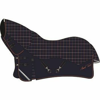 Mark Todd Turnout Rug Mediumweight Combo Navy/Orange/Beige Plaid