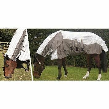 Mark Todd Air Mesh Combo Rug White/Blue/Tan