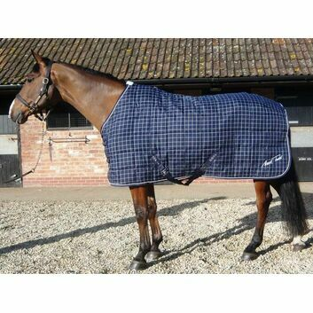 Mark Todd Stable Rug Mediumweight Navy/White Check