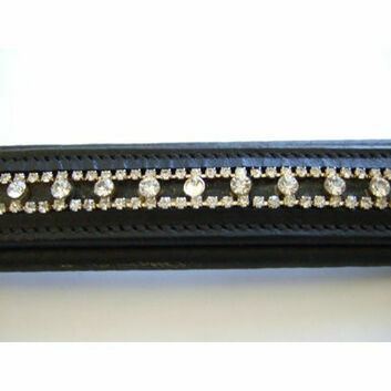 JHL Browband Round Clear Diamante Black