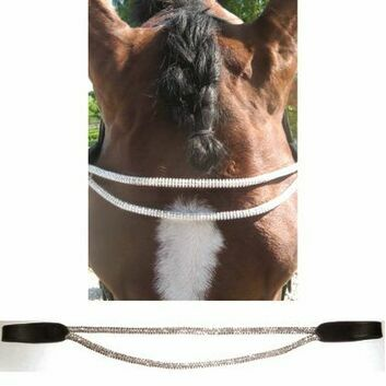 JHL Browband Rolled Diamante Black