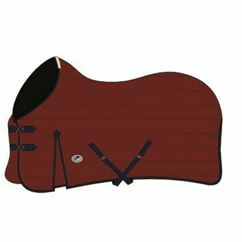 JHL Essential Stable Rug Mediumweight Burgundy/Navy