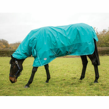 JHL Essential Turnout Rug Lightweight Extra Combo Turquoise