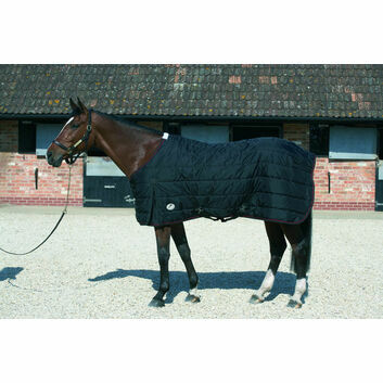JHL Stable Rug Lightweight Black/Burgundy