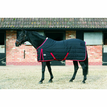 JHL Stable Rug Lightweight Black/Red