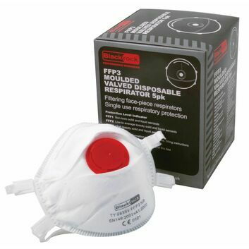 Blackrock Moulded Dust Respirator FFP3 Valved - 5 PACK