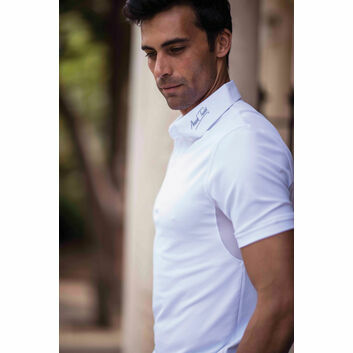 Mark Todd Competition Polo Shirt Brad Mens White - XLARGE