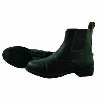 Mark Todd Jodhpur Boots Synthetic Front Zip Black