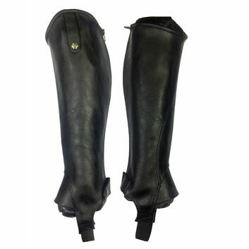 Mark Todd Half Chaps Synthetic Stretch Tall Black