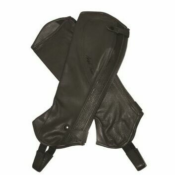 Mark Todd Half Chaps Close Fit Soft Leather Short Black