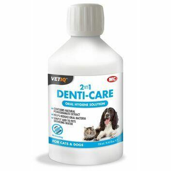 VetIQ 2in1 Denti-Care Oral Hygiene Solution for Cats & Dogs - 250 ML