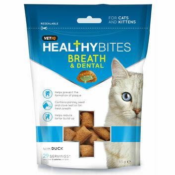 VetIQ Healthy Bites Breath & Dental for Cats & Kittens - 65 GM