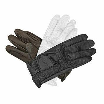 Mark Todd Leather Riding/Show Gloves Child Dark Brown