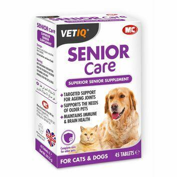 VetIQ Senior Care Tablets for Cats & Dogs - 45 PACK