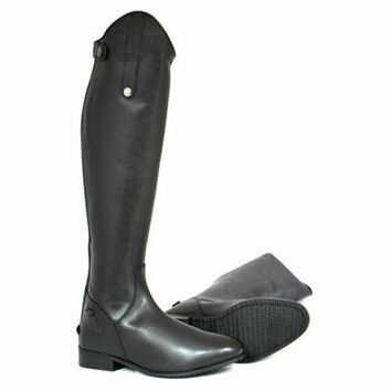 Mark Todd Long Leather Riding Boots Adult Short Black Wide