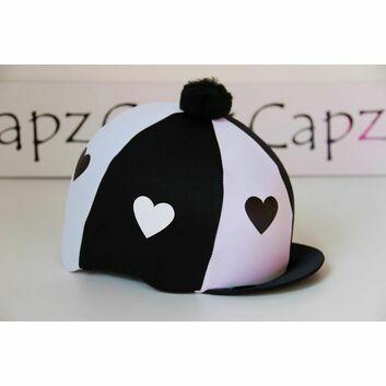Capz Motif Cap Cover Lycra Heartz & Pom Pom