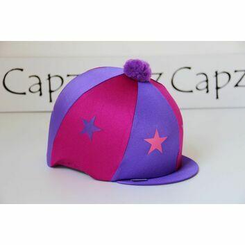 Capz Motif Cap Cover Lycra Starz & Pom Pom