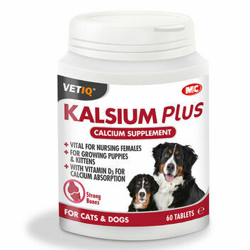 VetIQ Kalsium Plus Tablets for Cats & Dogs - 60 PACK