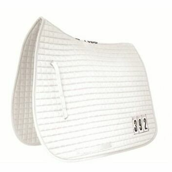 Mark Todd Saddlepad Dressage with Competition Numbers - Pony/Cob - WHITE