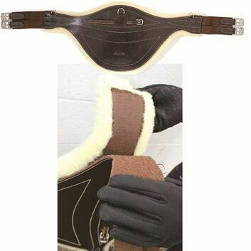 Mark Todd Stud Girth with Detachable Sheepskin Black/Cream