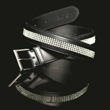 Mark Todd Belt Diamante Patent Leather - Small/Medium (85cm)