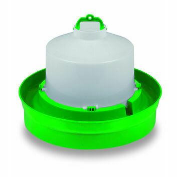 Gaun Drinker for Chickens Deep Base Green