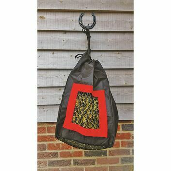 StableKit Hay Bag Tidy in Black and Red