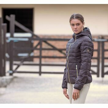 Mark Todd Padded Jacket Reeflan Ladies Chocolate