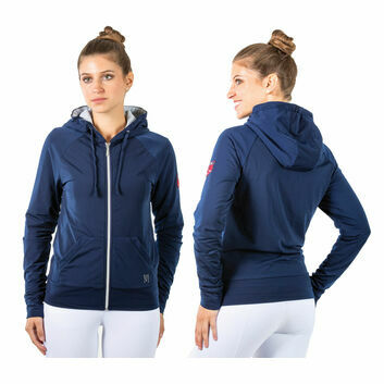 Mark Todd Hoodie Fleece Lined Ladies Navy