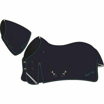 Mark Todd Turnout Rug Heavyweight with Large Neck Navy/Jade