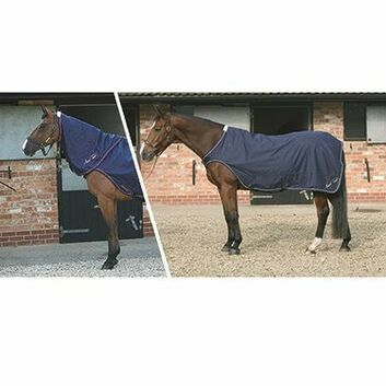 Mark Todd Horse Walker/Lunge Rug Navy/White
