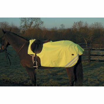 Mark Todd Exercise Sheet Reflective Fleece Lined Yellow