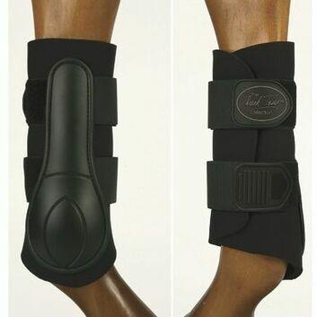 Mark Todd Brushing Boots 2-Strap Black